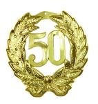 50 goud decoratie 45x42cm plastic*