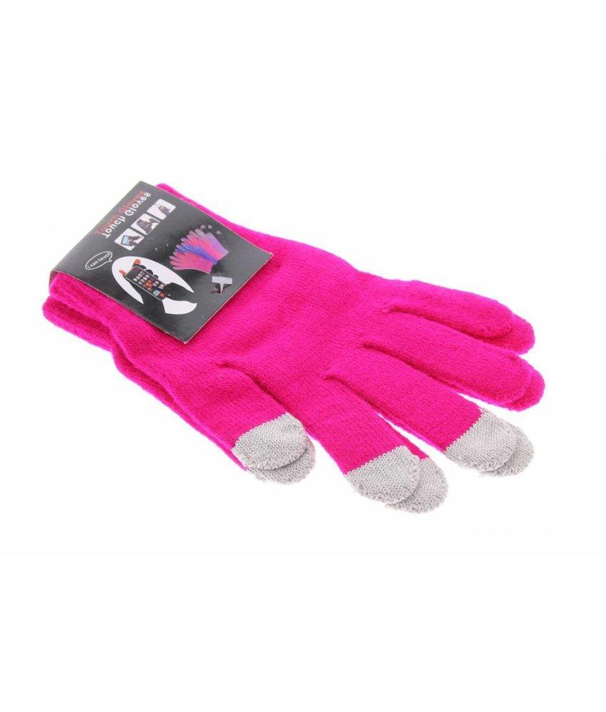 Effen touchscreen handschoenen diverse kleuren