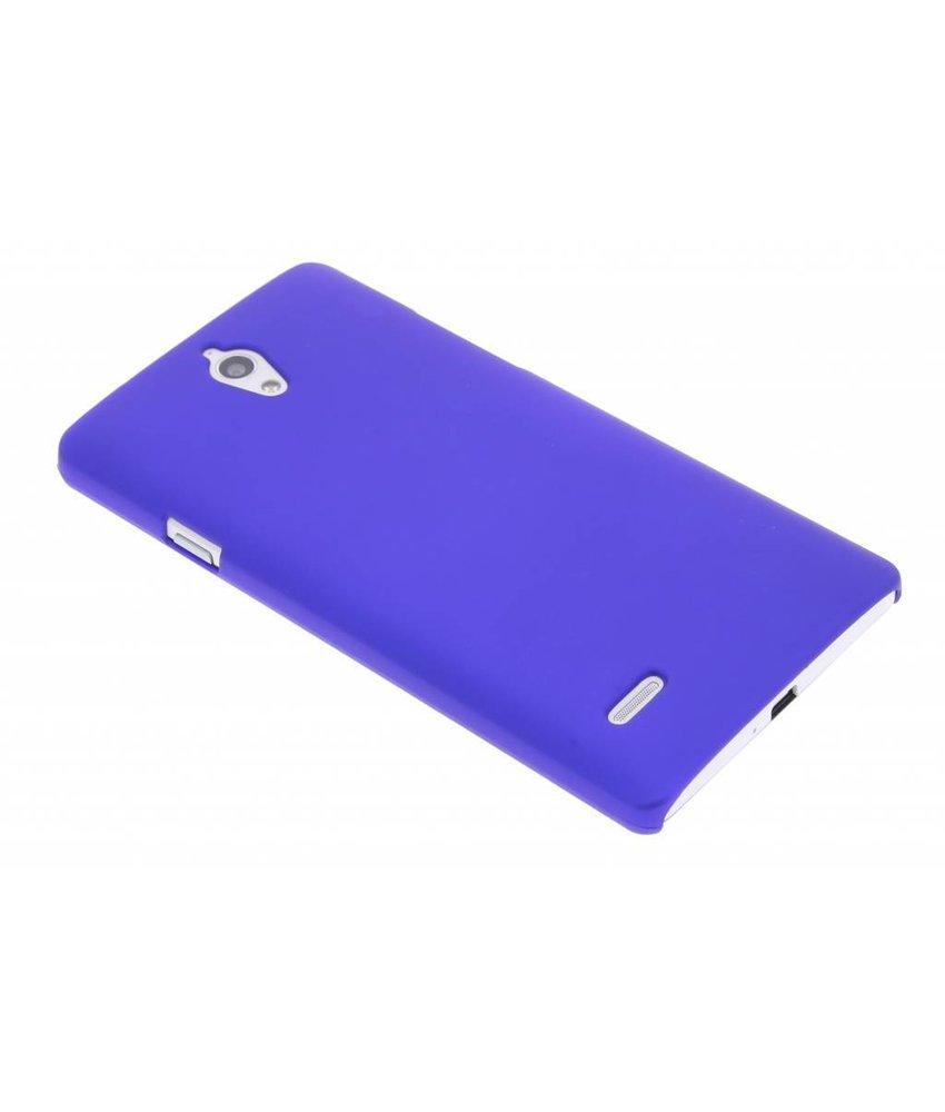 Blauw effen hardcase hoesje Huawei Ascend G700