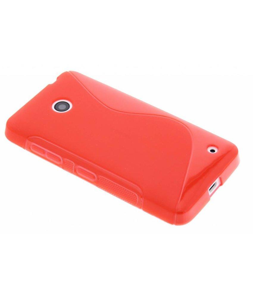 Rood S-line TPU hoesje Nokia Lumia 630 / 635