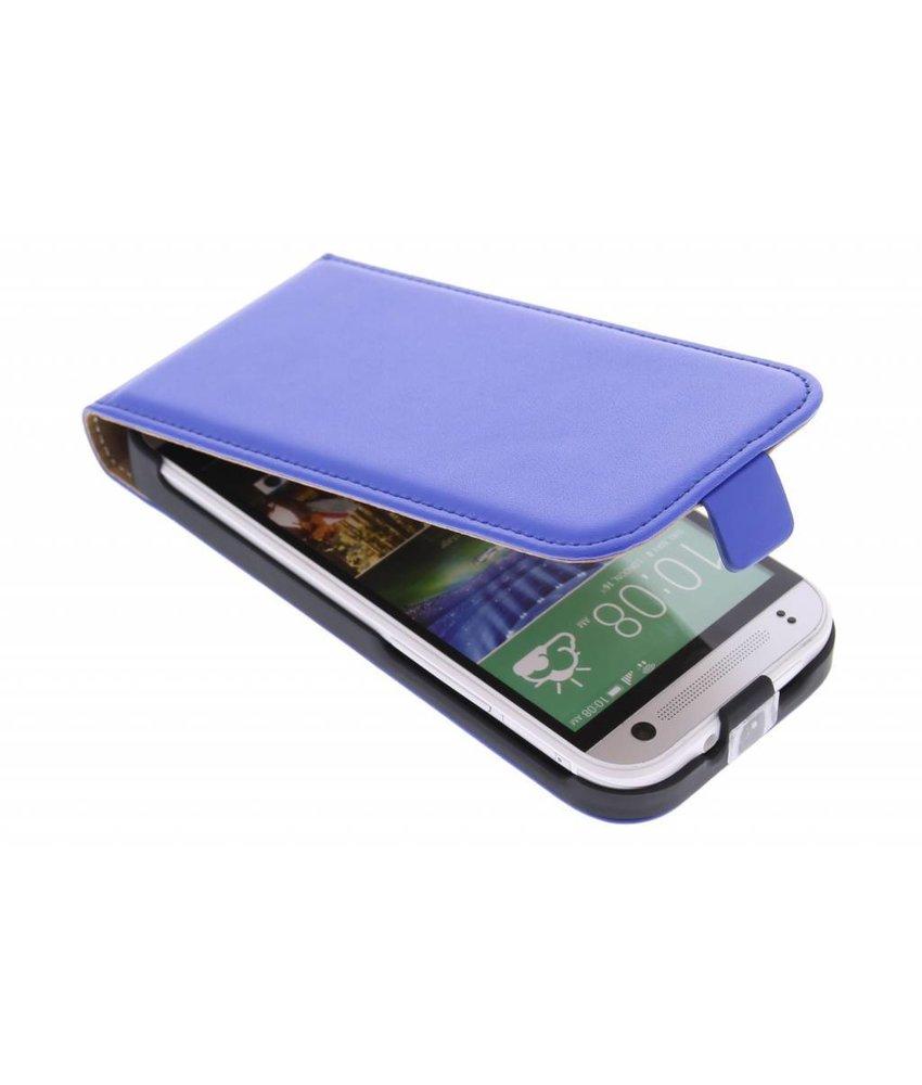 Blauw luxe flipcase HTC One Mini 2