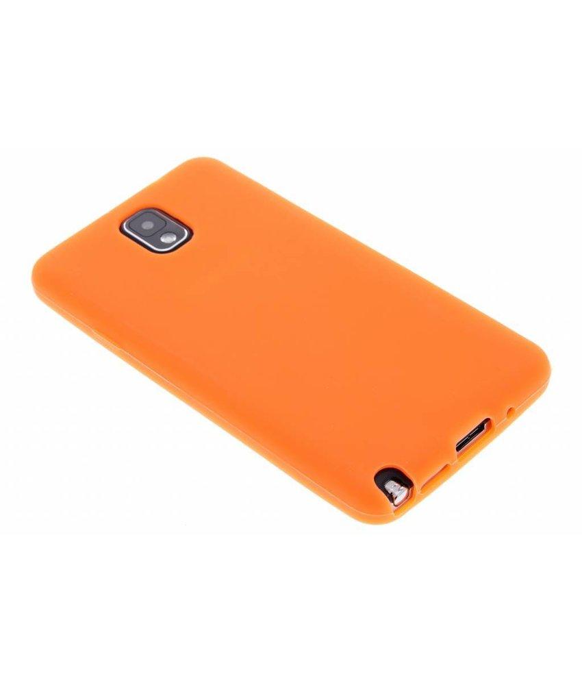 Oranje siliconen hoesje Samsung Galaxy Note 3