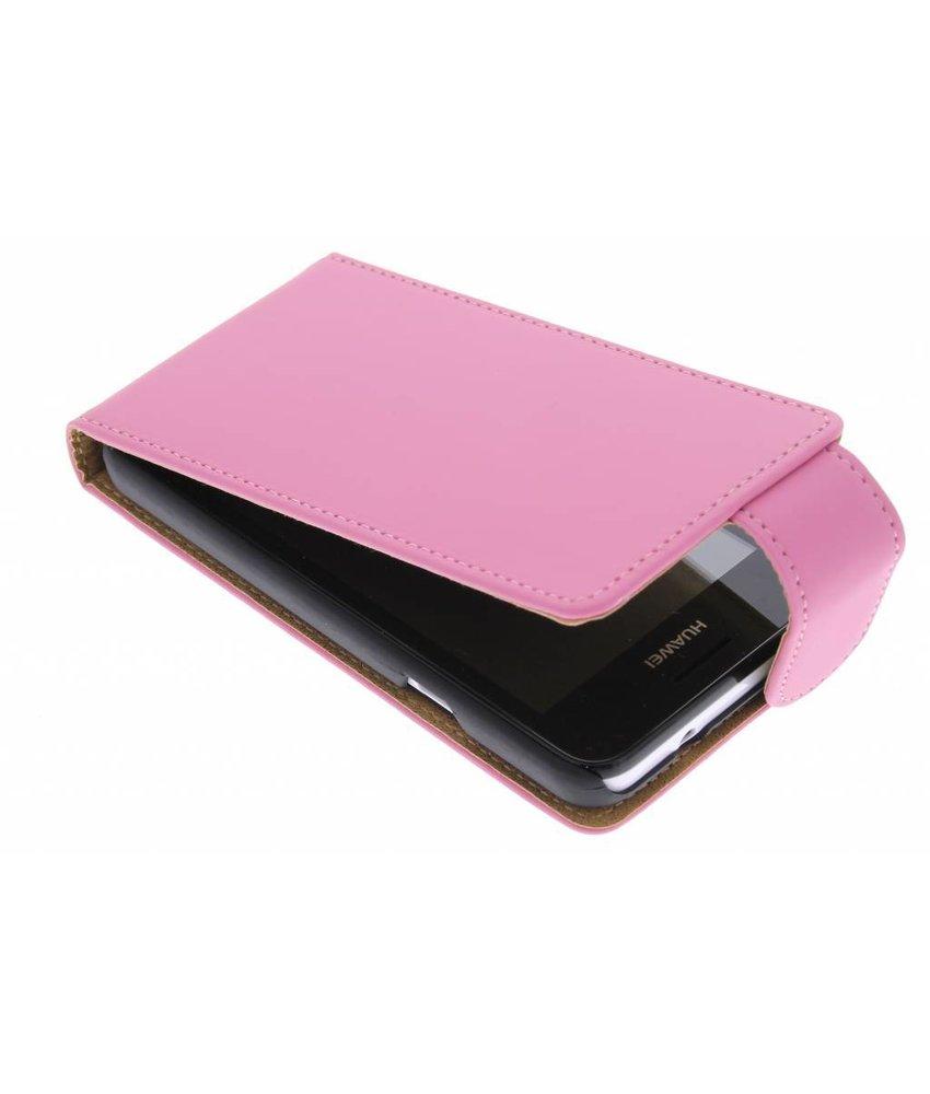 Roze classic flipcase Huawei Ascend Y330