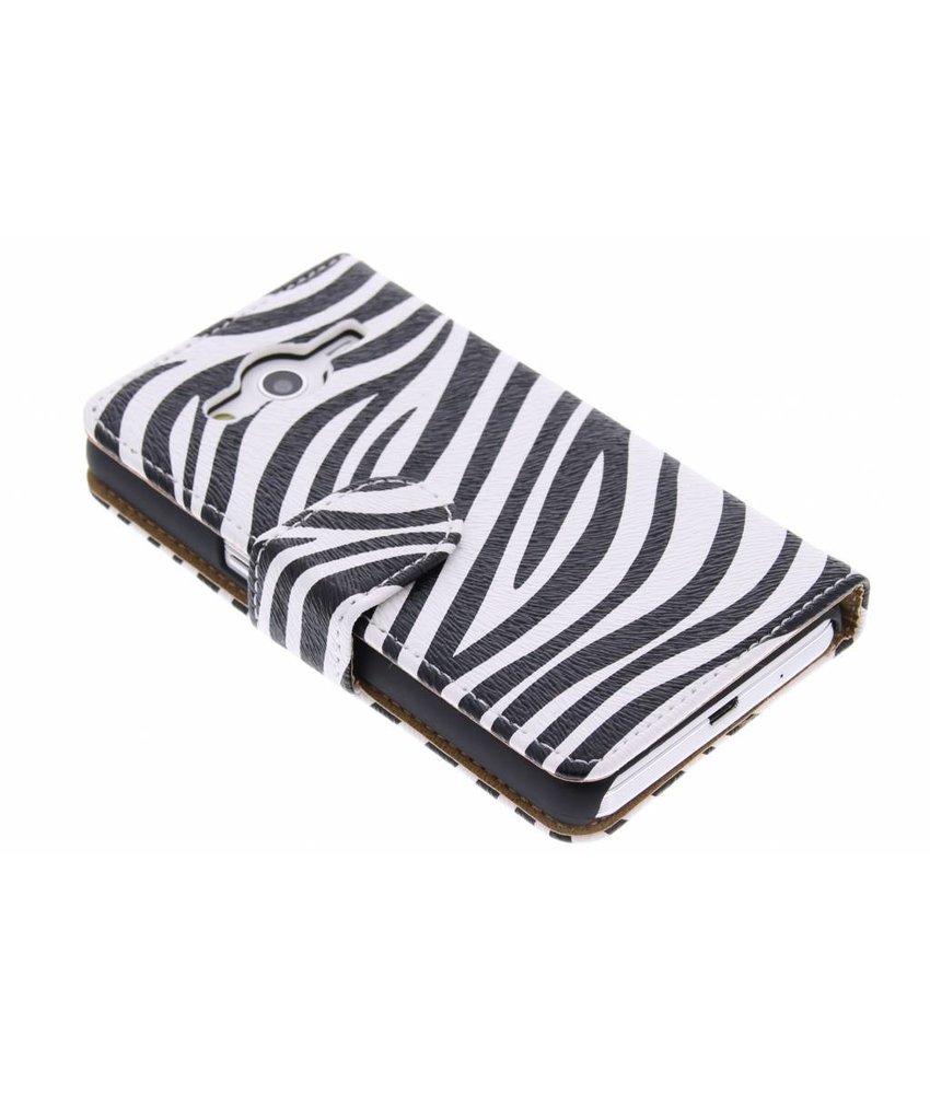 Zebra booktype hoes Samsung Galaxy Core 2