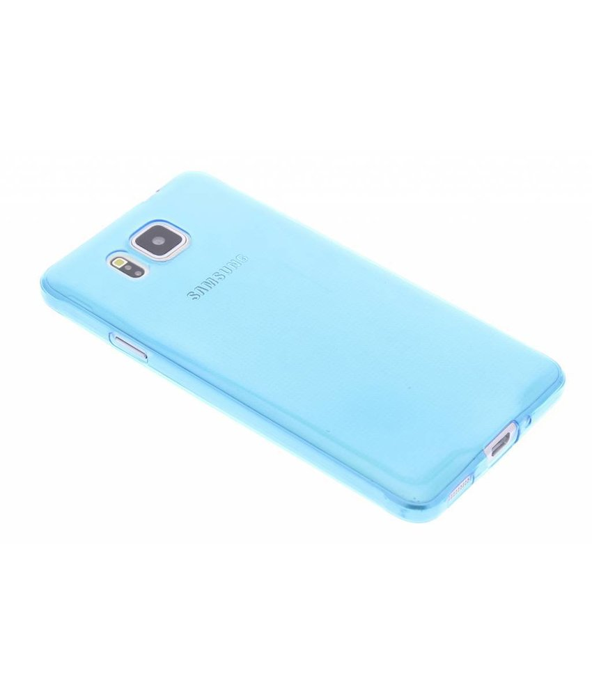Blauw ultra thin TPU hoesje Samsung Galaxy Alpha