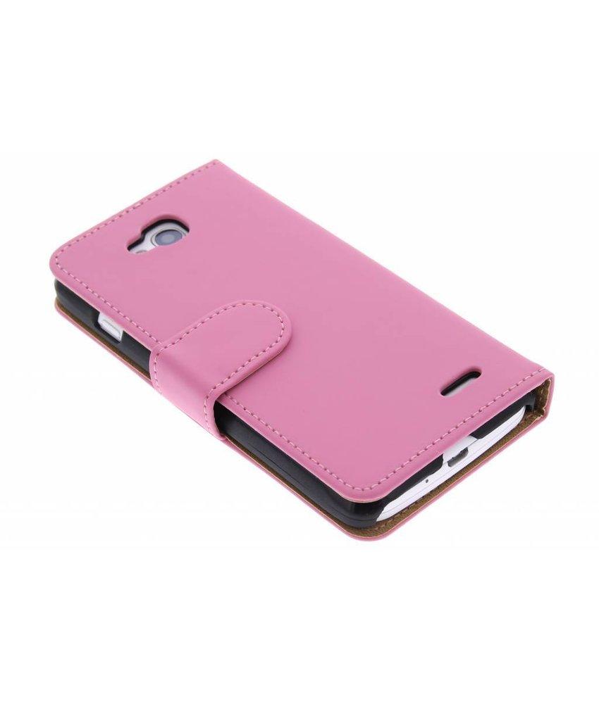 Roze effen booktype hoes LG L90