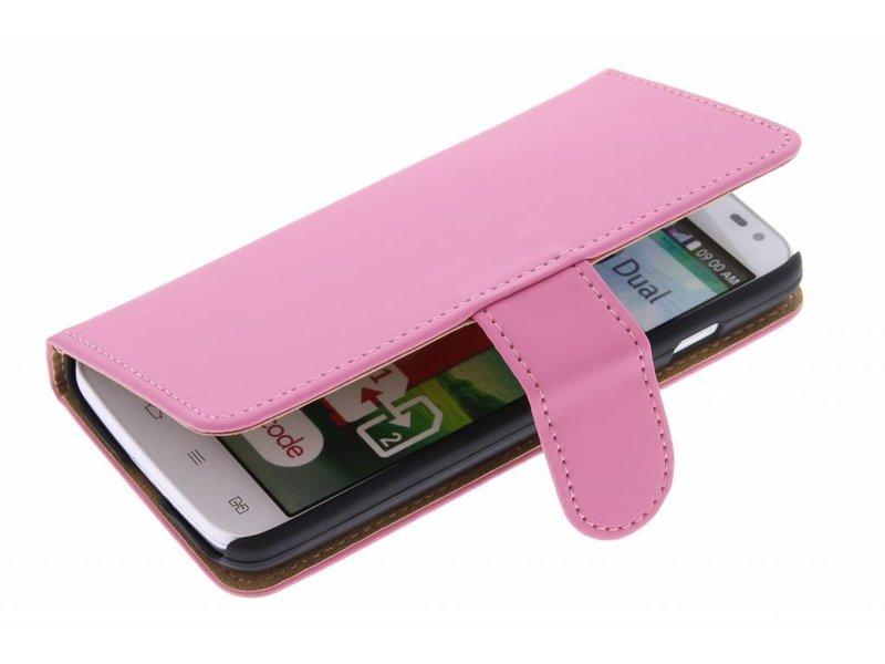 LG L90 hoesje - Roze effen booktype hoes