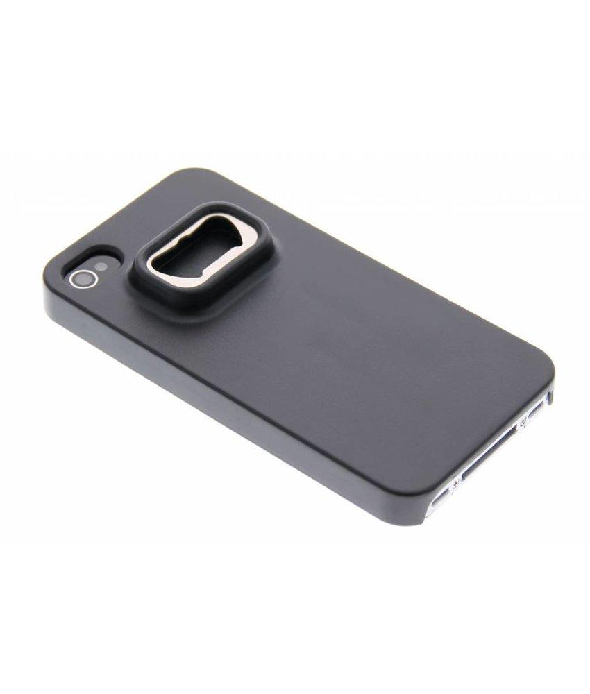Zwart bieropener hoesje iPhone 4 / 4s