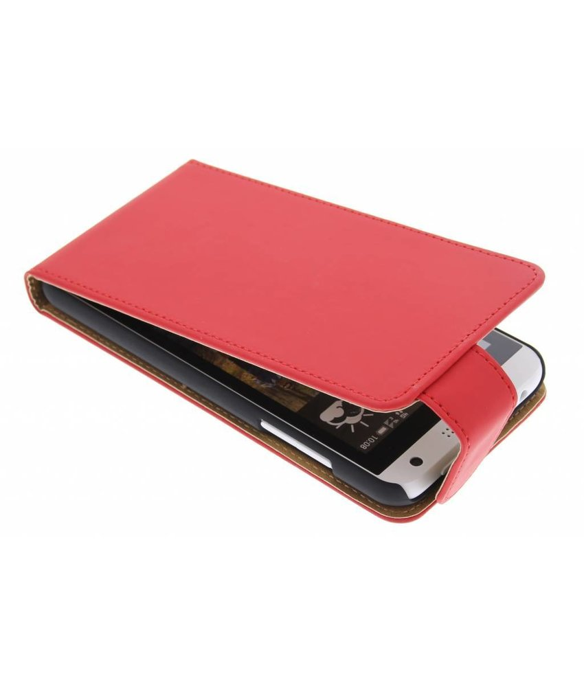 Rood classic flipcase HTC Desire 610