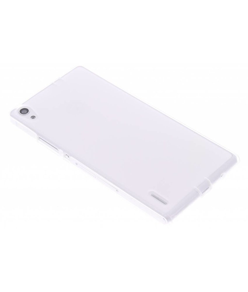 Transparant hard siliconen hoesje Huawei Ascend P7
