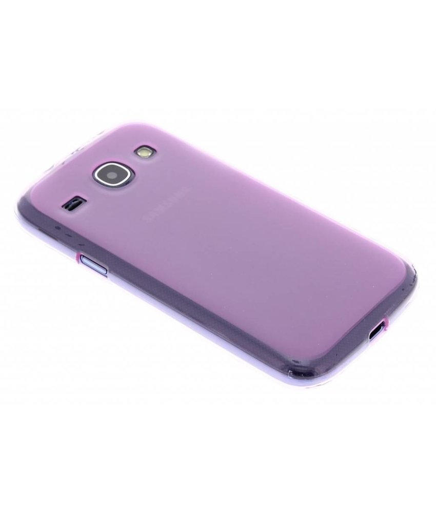 Roze hard siliconen hoes Samsung Galaxy Core