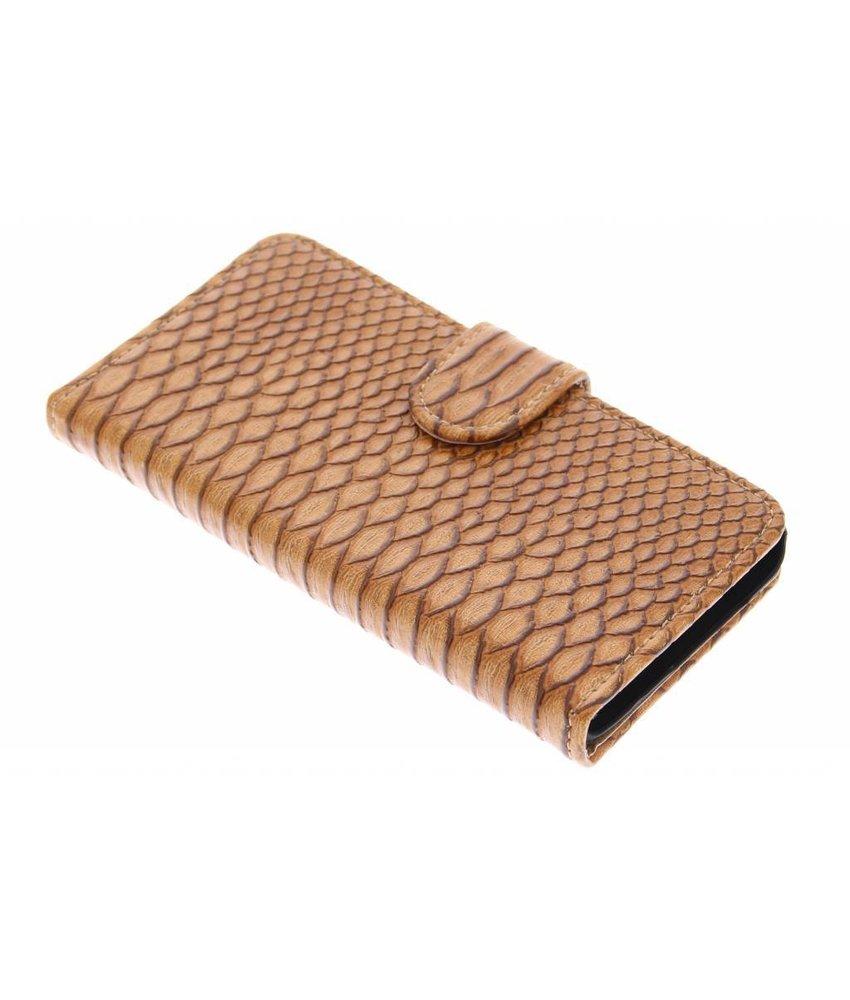 Bruin slangen booktype hoes Samsung Galaxy A3