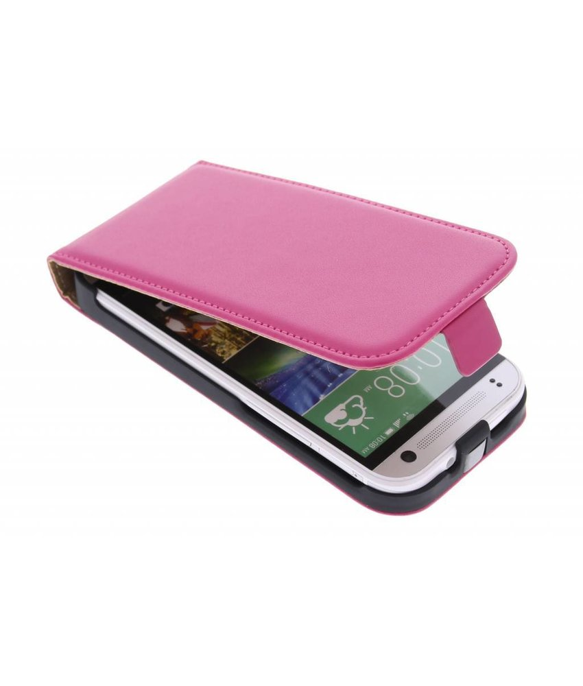 Fuchsia luxe flipcase HTC One Mini 2