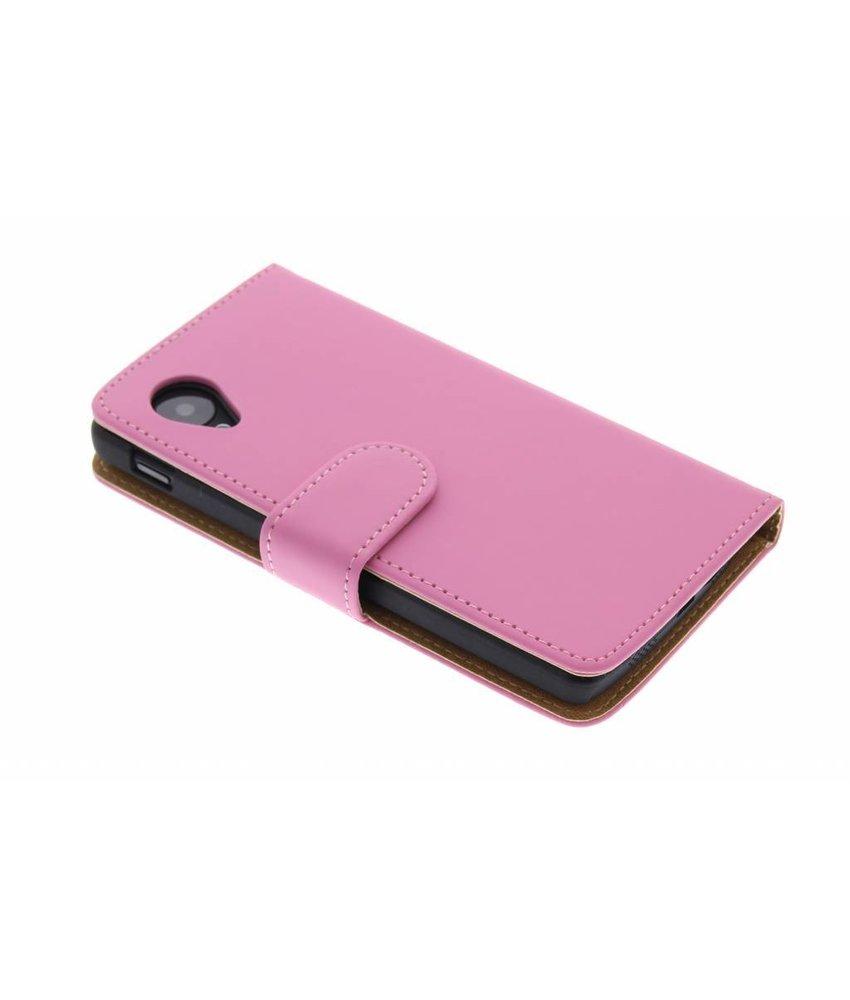 Roze effen booktype hoes LG Nexus 5