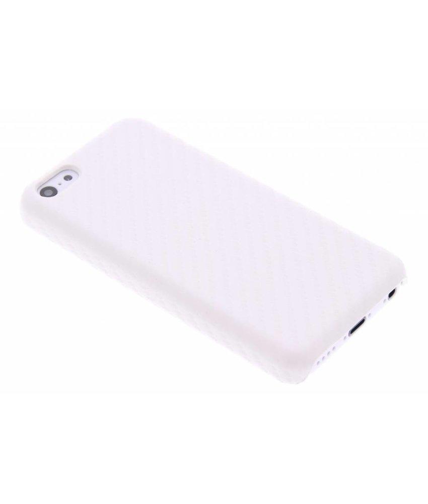 Wit carbon look hardcase hoesje iPhone 5c