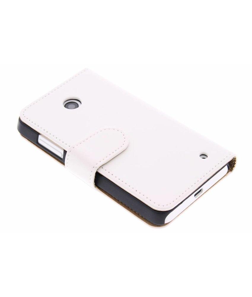 Wit effen booktype hoes Nokia Lumia 630 / 635