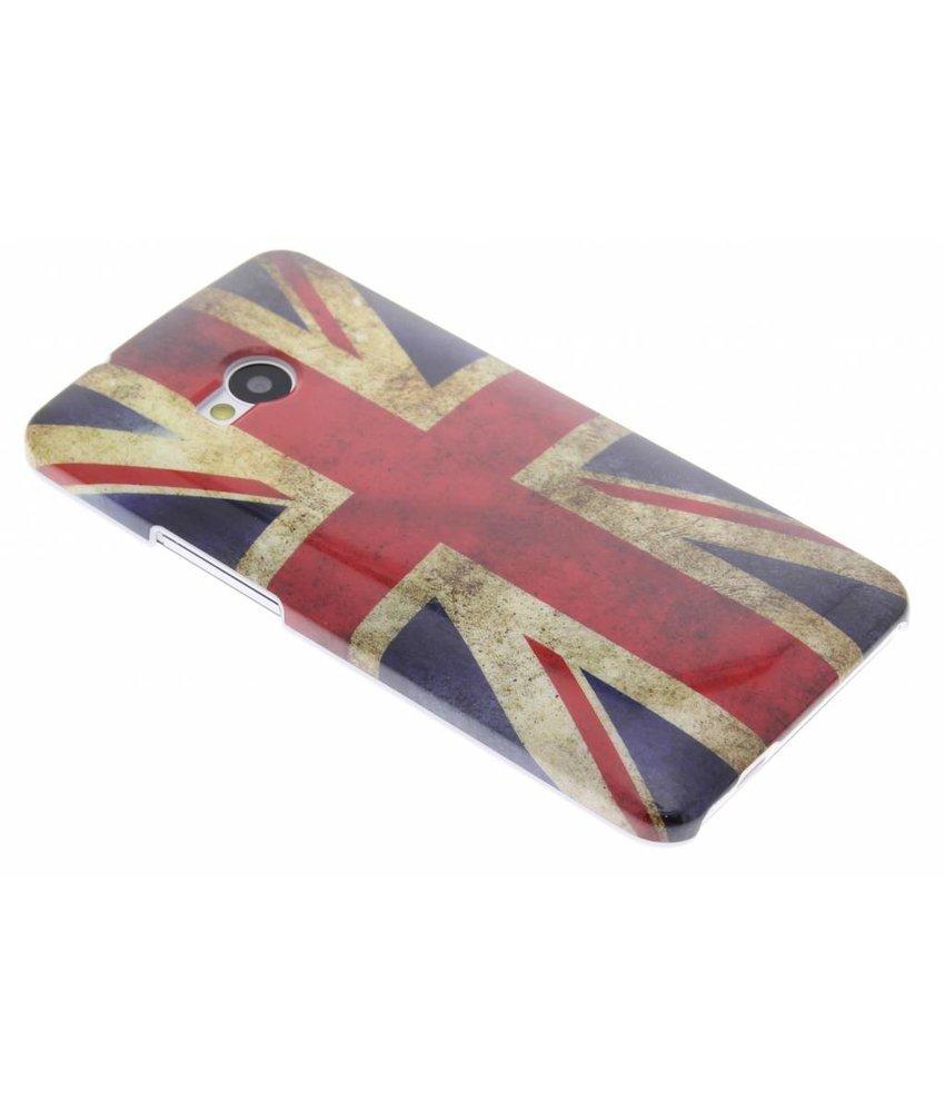 Britse vlag design glad hardcase hoesje HTC One