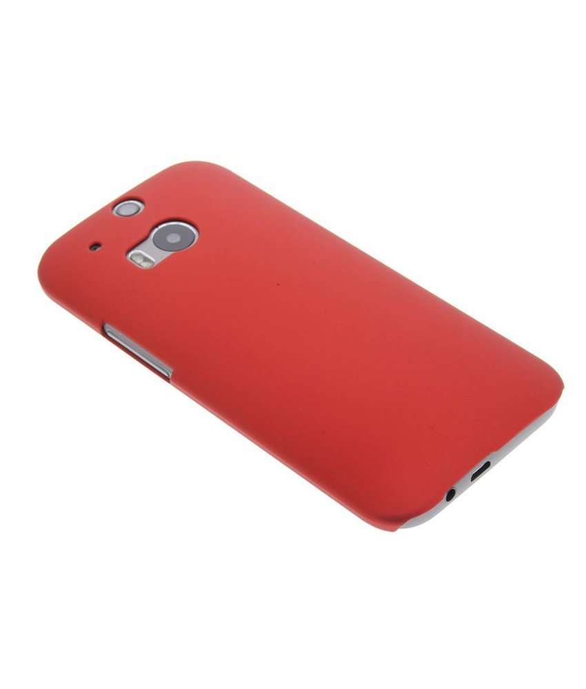 Rood effen hardcase HTC One M8 / M8s