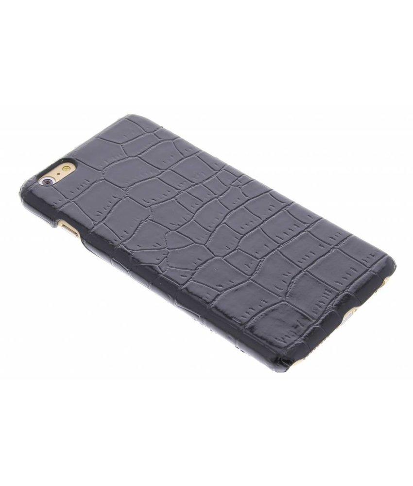 Zwart krokodil design hardcase iPhone 6(s) Plus