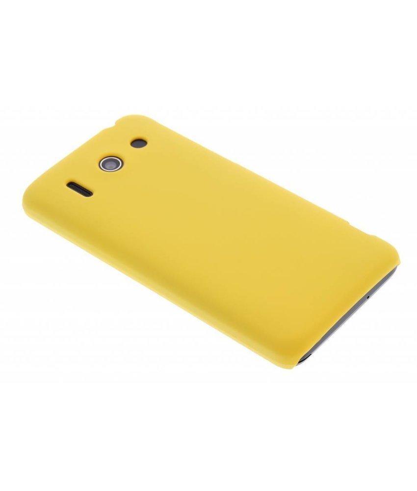 Geel effen hardcase hoesje Huawei Ascend G510