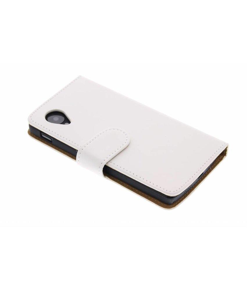 Wit effen booktype hoes LG Nexus 5