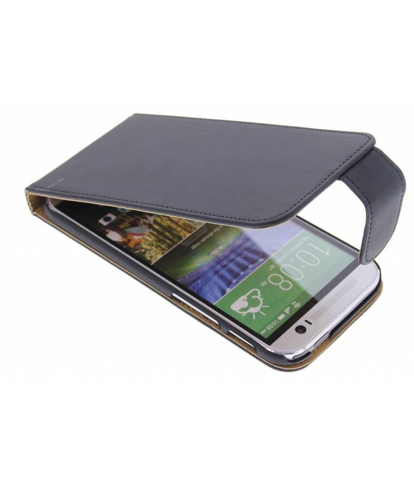 Zwart classic flipcase HTC One M8 / M8s