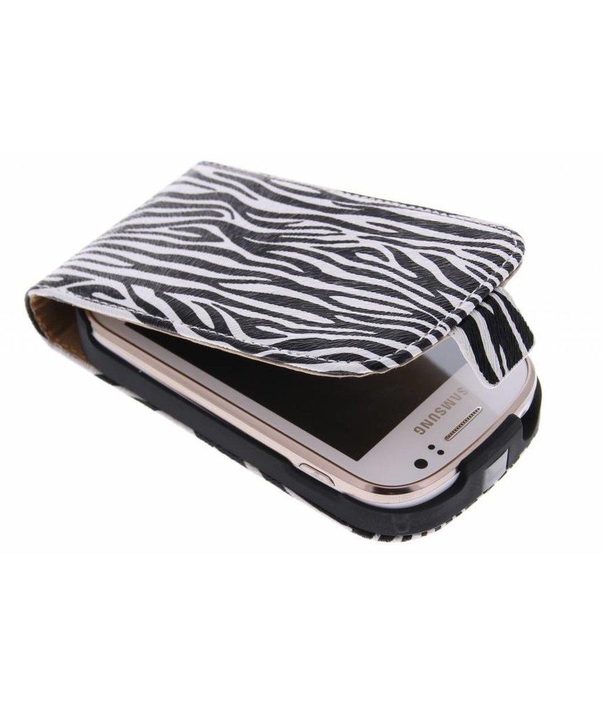 Zebra flipcase Samsung Galaxy Fame