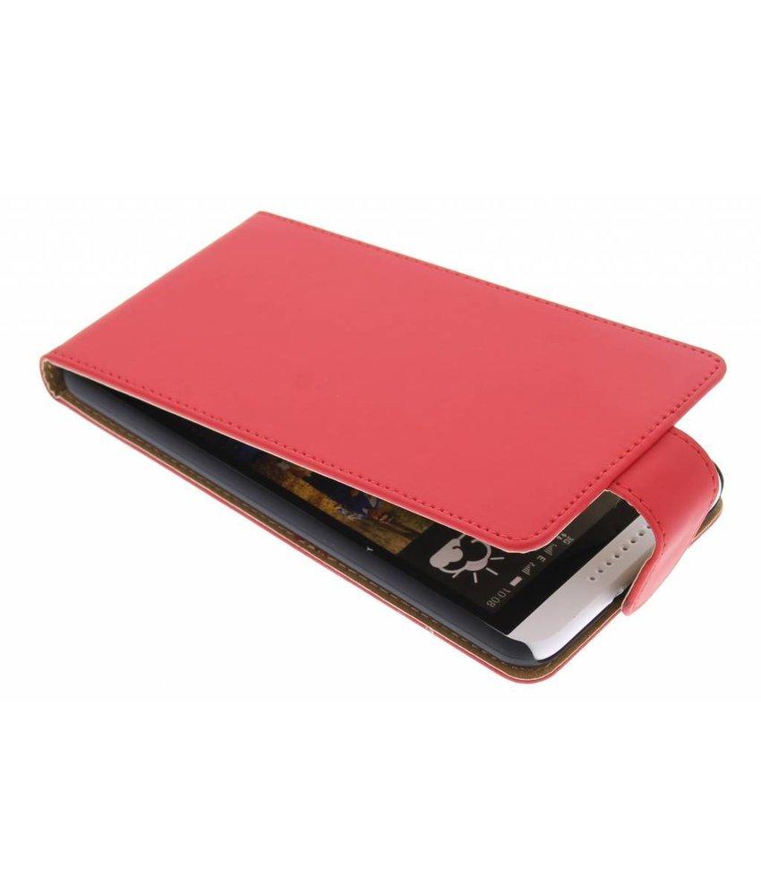 Rood classic flipcase HTC Desire 816