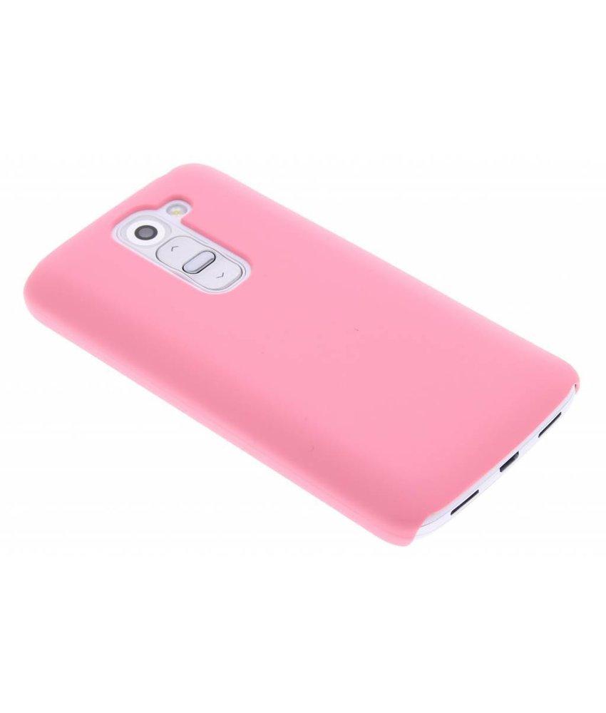 Roze effen hardcase hoesje LG G2 Mini