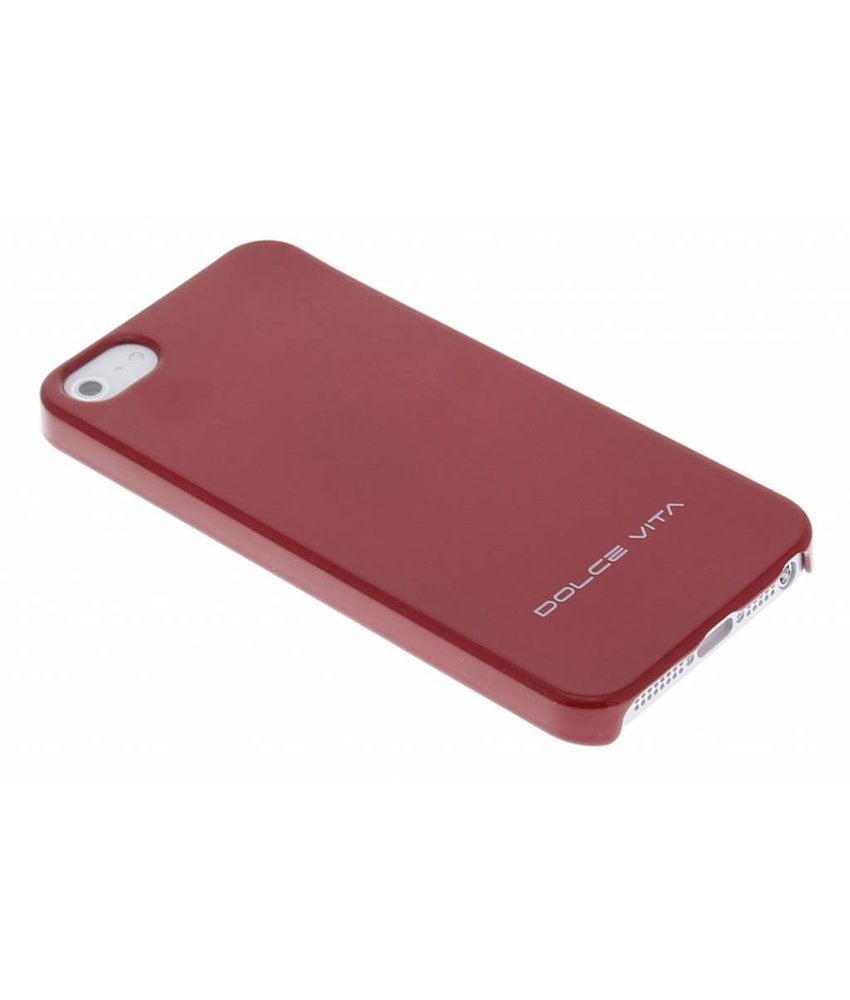 Dolce Vita rood glanzende hardcase hoes iPhone 5 / 5s / SE