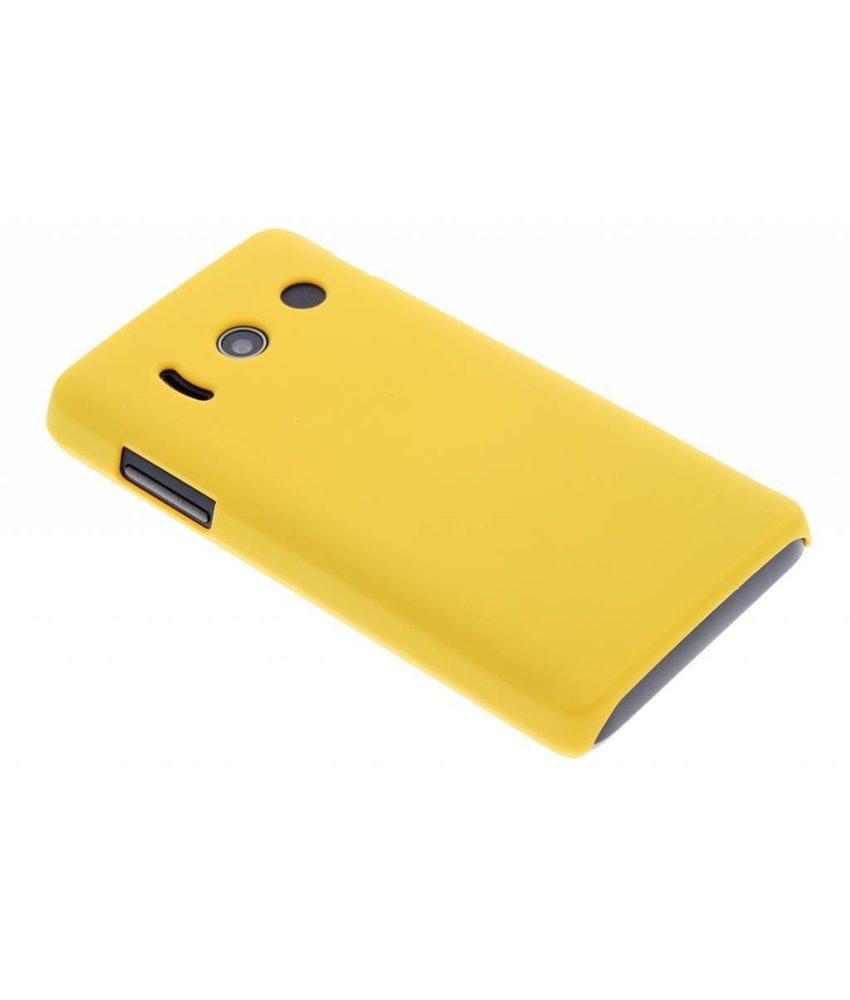 Geel effen hardcase hoesje Huawei Ascend Y300