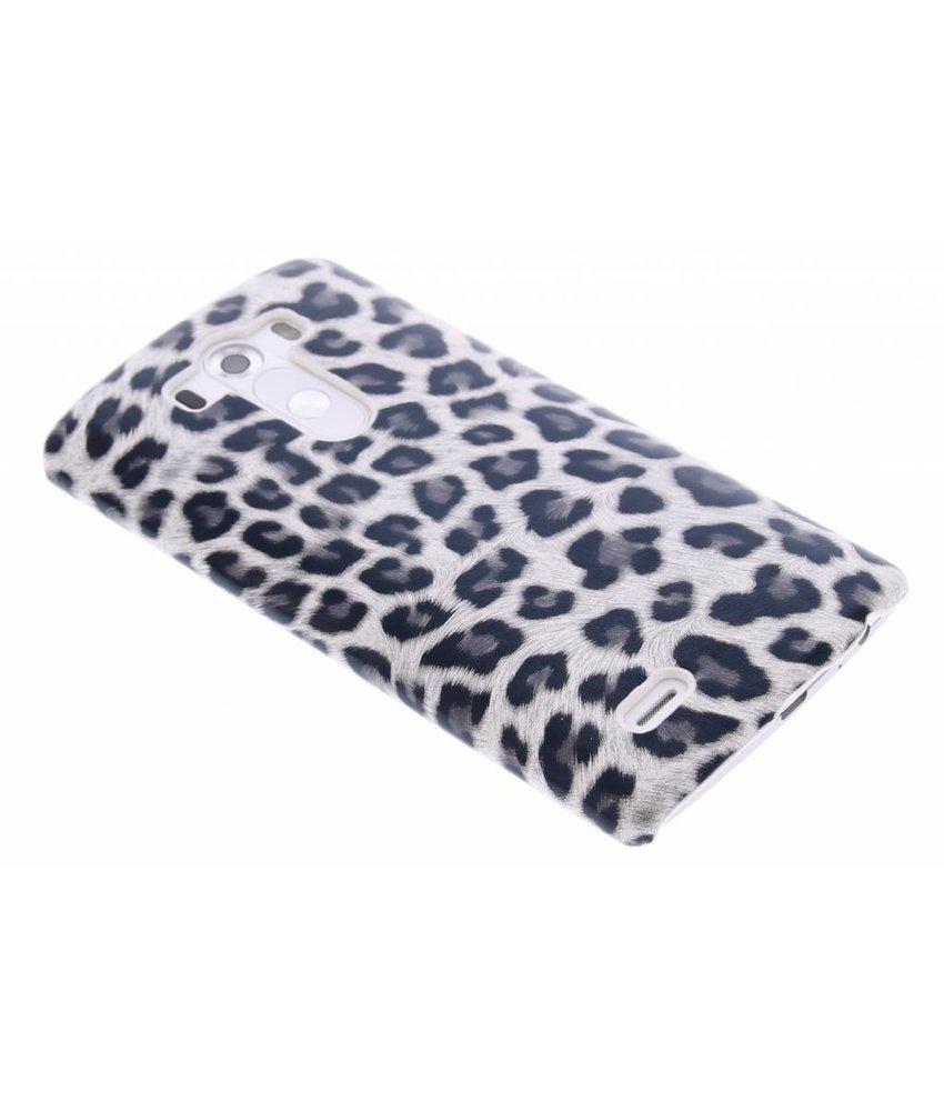 Grijs luipaard design hardcase hoesje LG G3