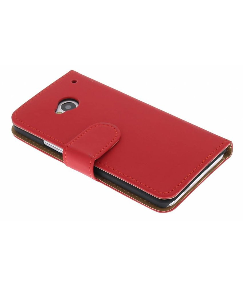Rood booktype hoes HTC One