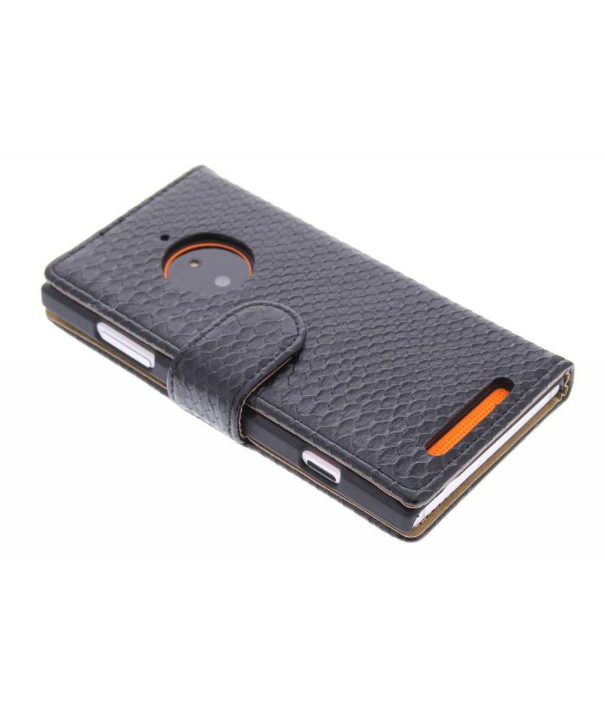 Zwart slangen booktype Nokia Lumia 830