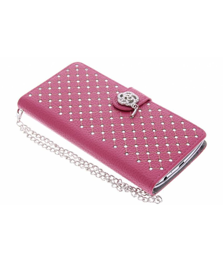 Fuchsia chique strass booktype hoes LG G3