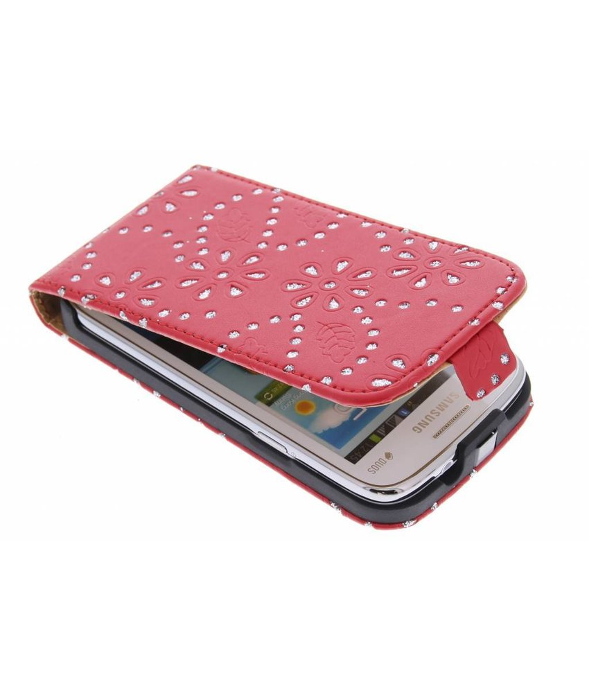 Rood bloemblad flipcase Samsung Galaxy Core