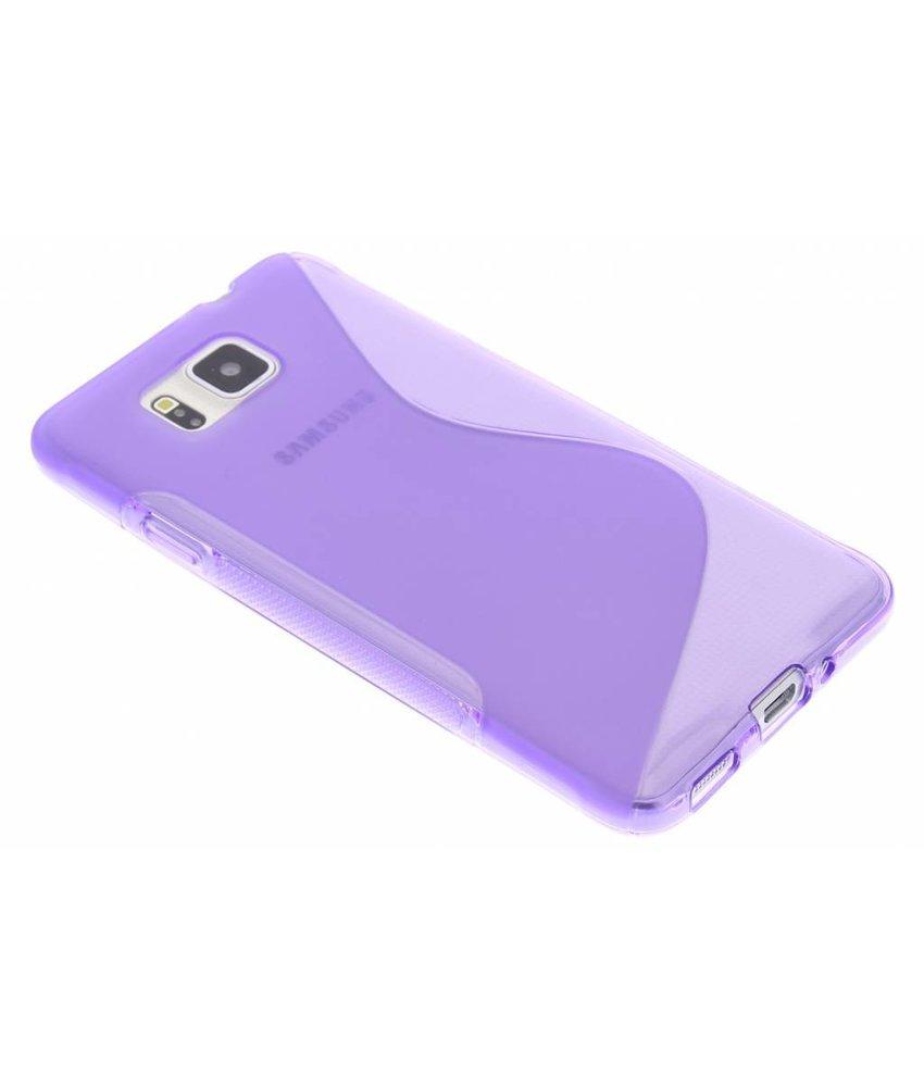 Paars S-line TPU hoesje Samsung Galaxy Alpha