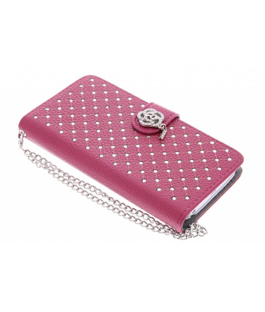 Fuchsia chique strass booktype hoes LG G2