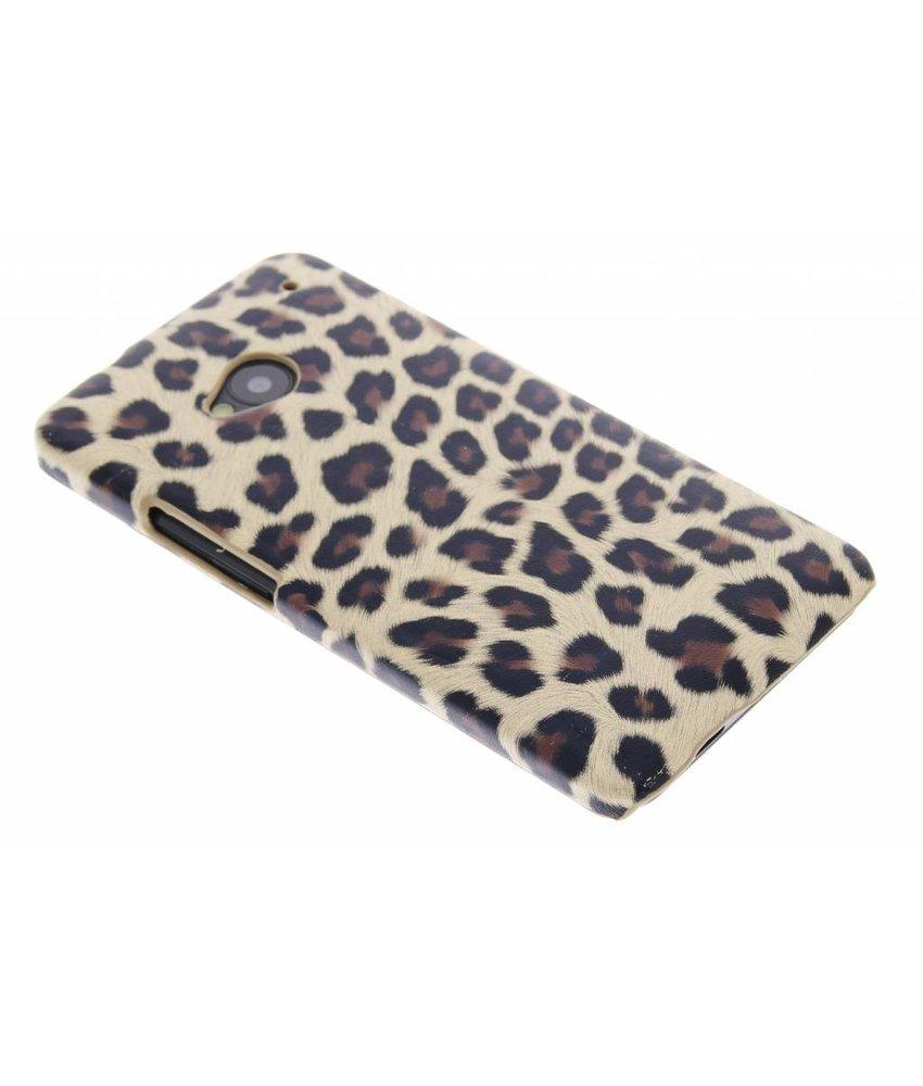 Bruin luipaard design hardcase HTC One