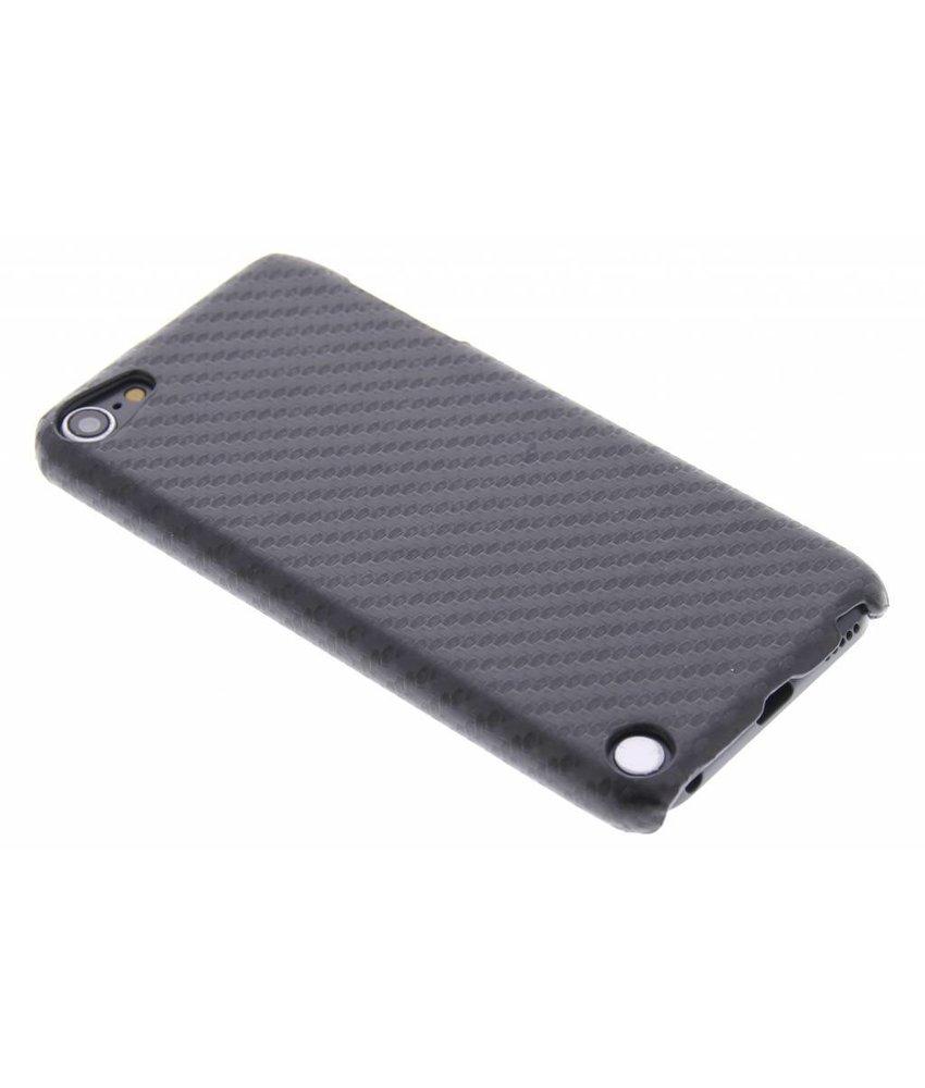 Zwart carbon look hardcase hoesje iPod Touch 5g / 6