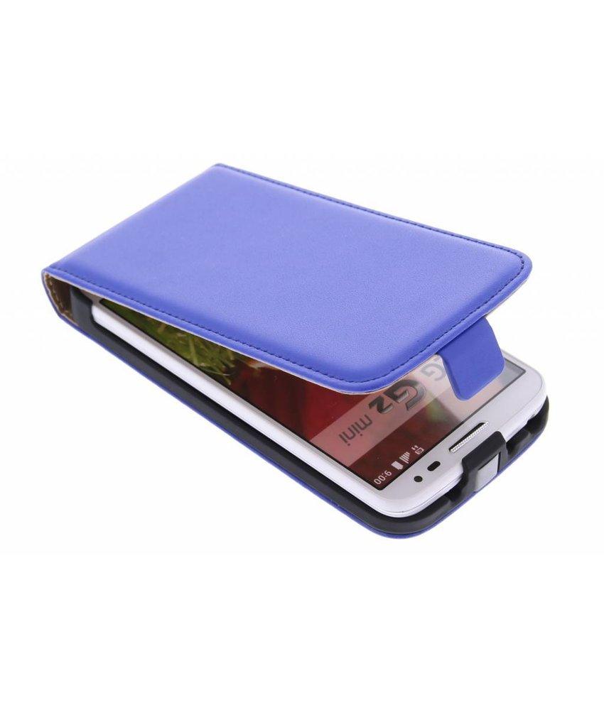 Blauw luxe flipcase LG G2 Mini