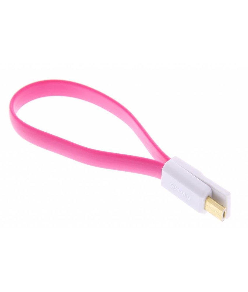 Celly Micro-USB magnetische kabel - roze