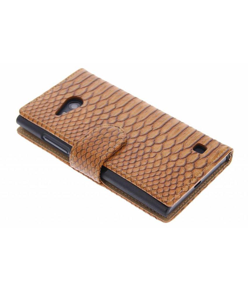 Bruin slangen booktype Nokia Lumia 730 / 735