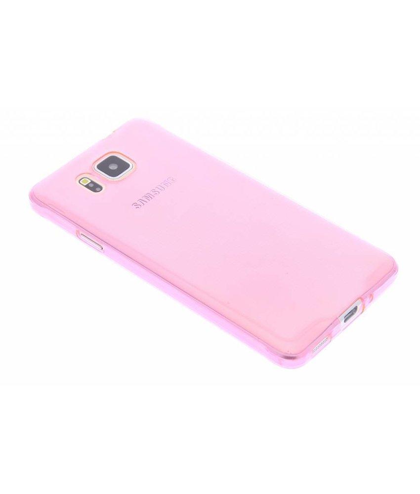 Roze ultra thin TPU hoesje Samsung Galaxy Alpha
