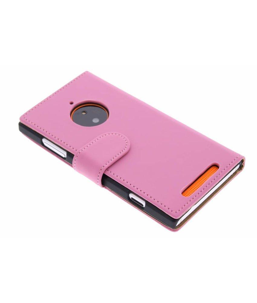 Roze effen booktype Nokia Lumia 830