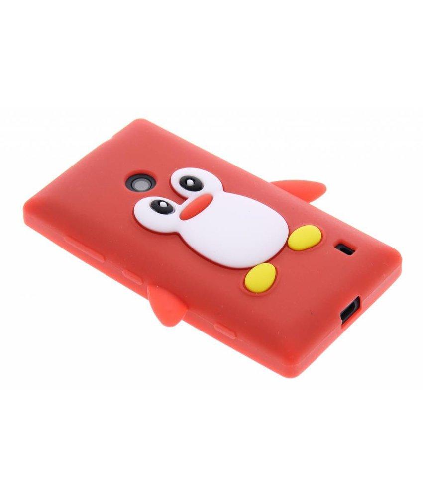 Rood pinguin siliconen hoesje Nokia Lumia 520 / 525