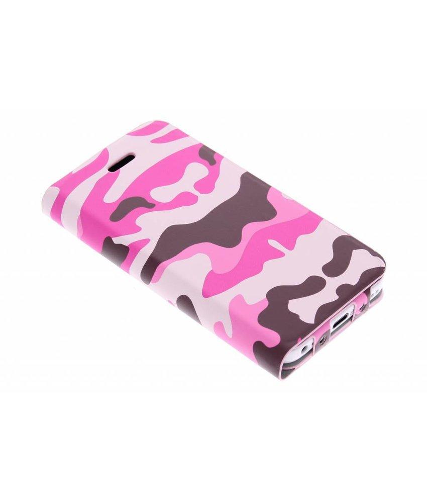 Muvit Agenda Case Camo iPhone 5c - roze