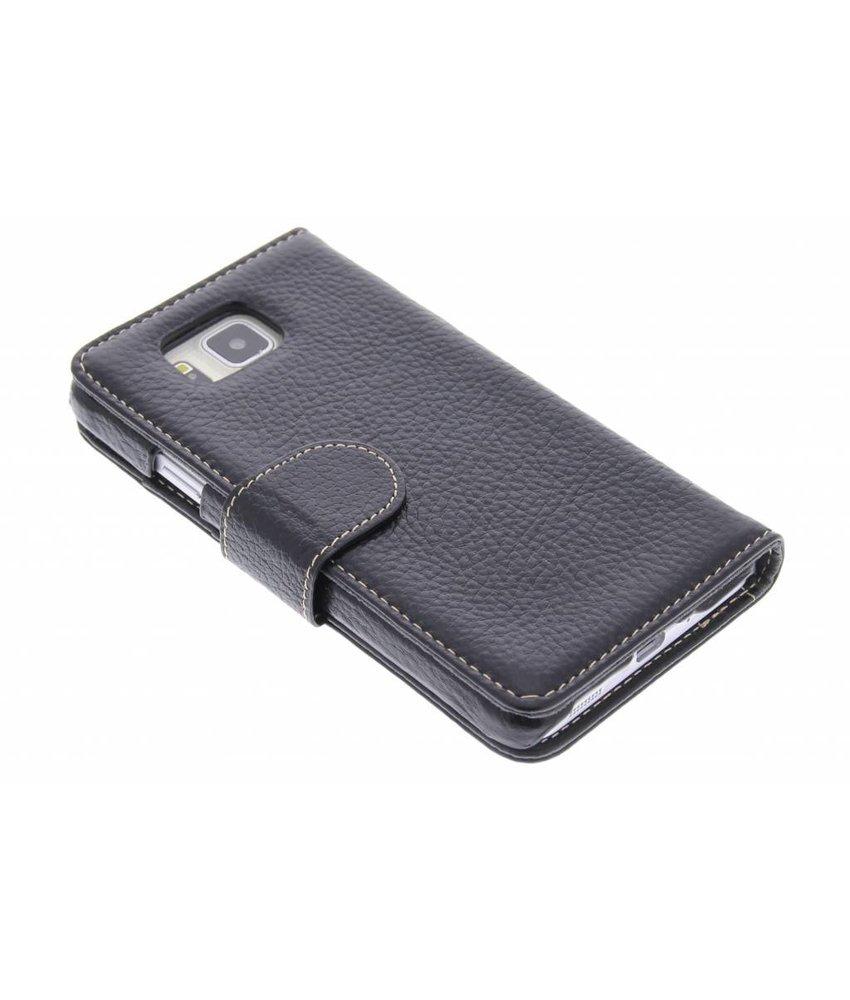 Melkco Wallet booktype Samsung Galaxy Alpha - zwart