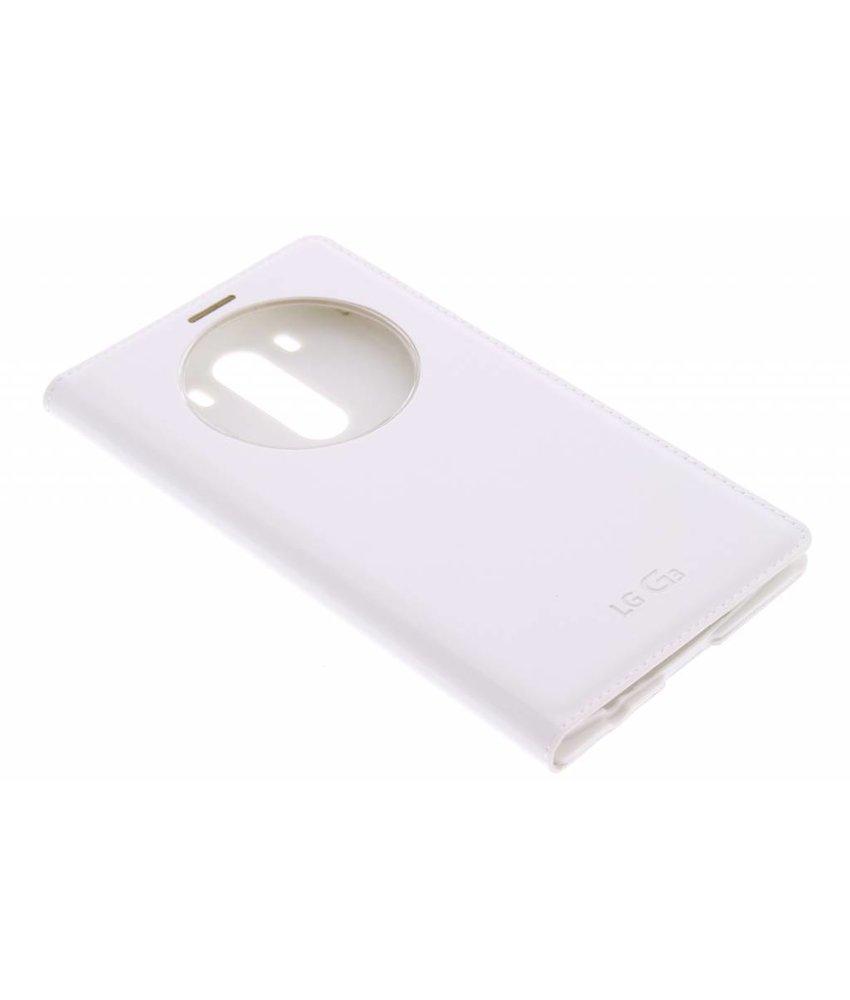 Wit luxe flipcover met venster LG G3