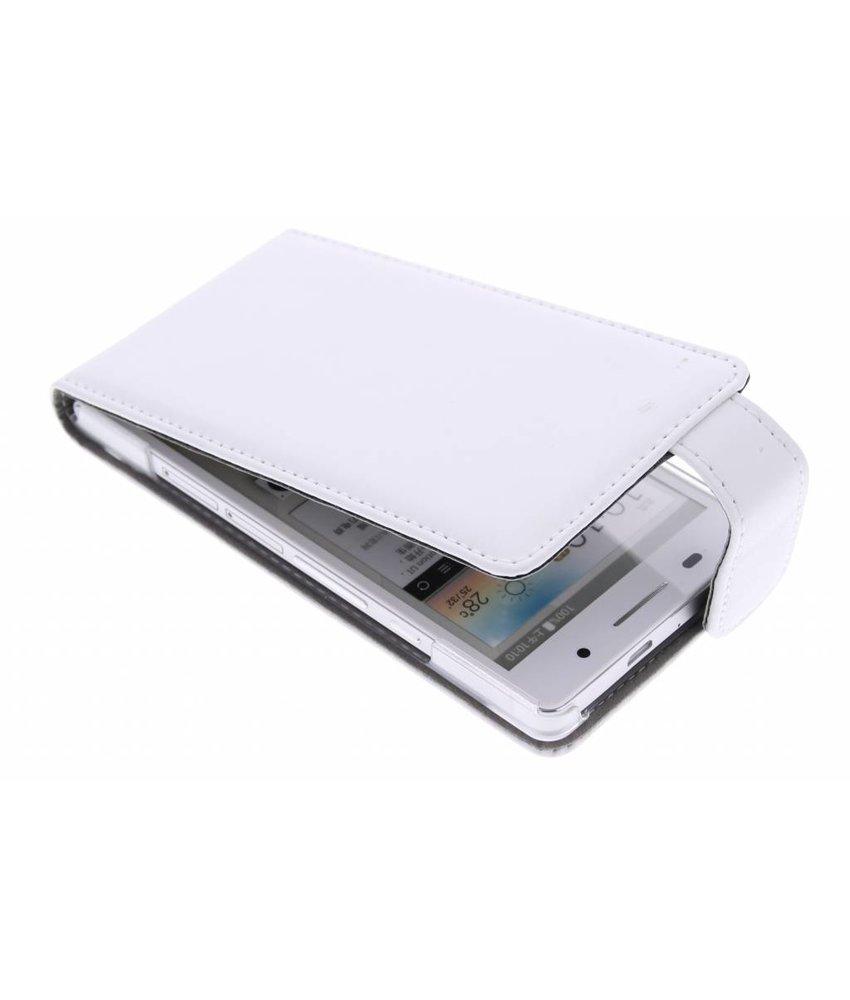 Wit stijlvolle flipcase Huawei Ascend P6 / P6s